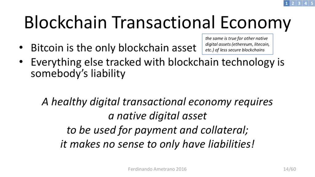 Blockchain Transactional Economy • Bitcoin is t...