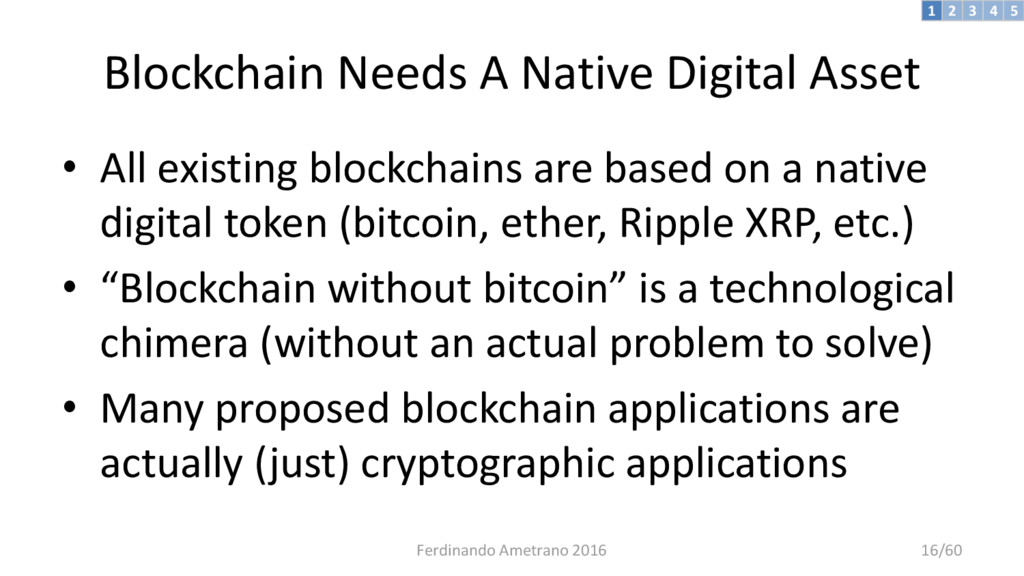 Blockchain Needs A Native Digital Asset • All e...