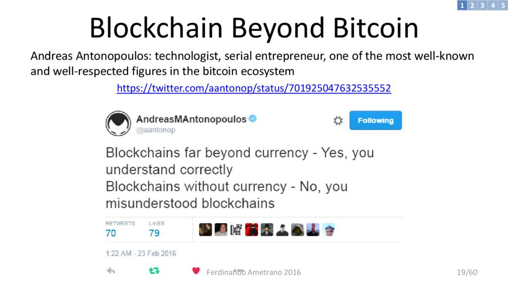 Blockchain Beyond Bitcoin Andreas Antonopoulos:...