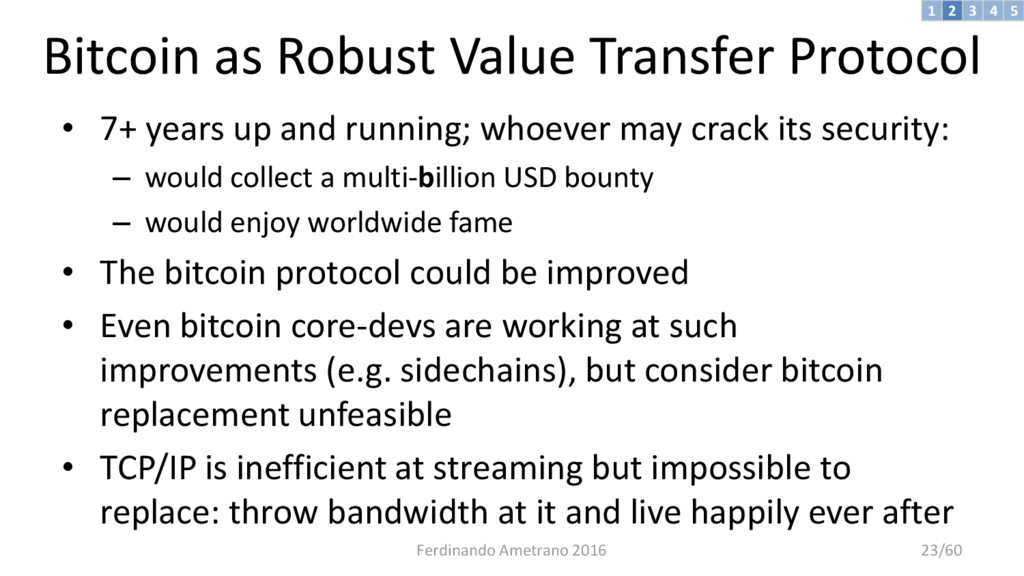 Bitcoin as Robust Value Transfer Protocol • 7+ ...