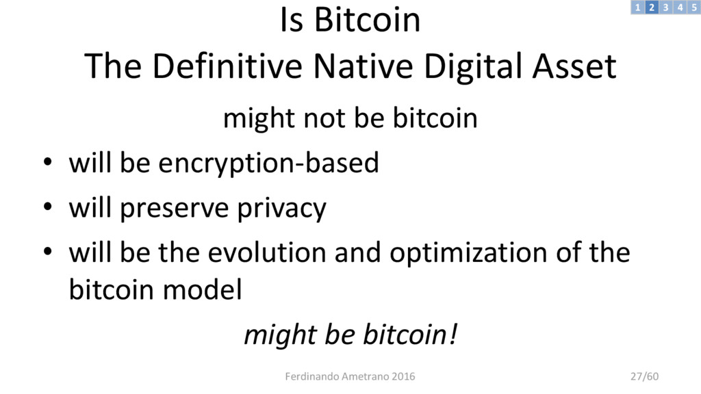 Is Bitcoin The Definitive Native Digital Asset ...