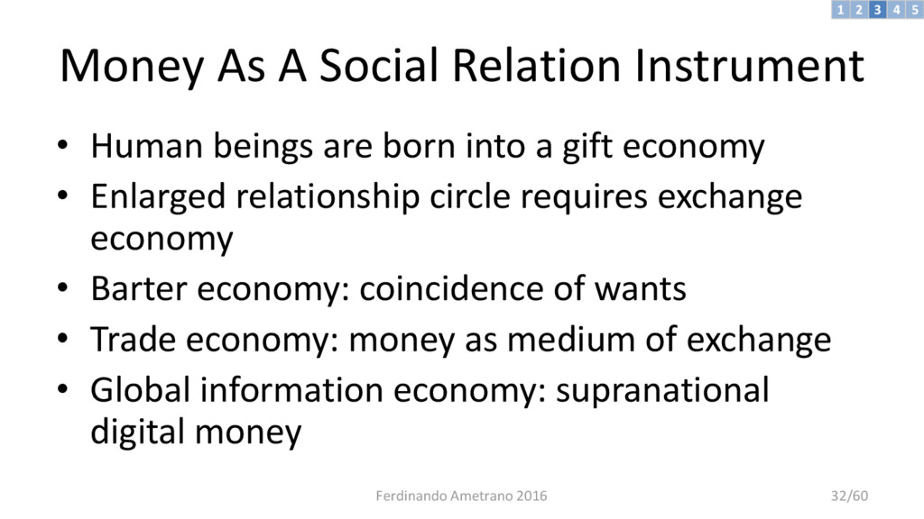 Money As A Social Relation Instrument • Human b...