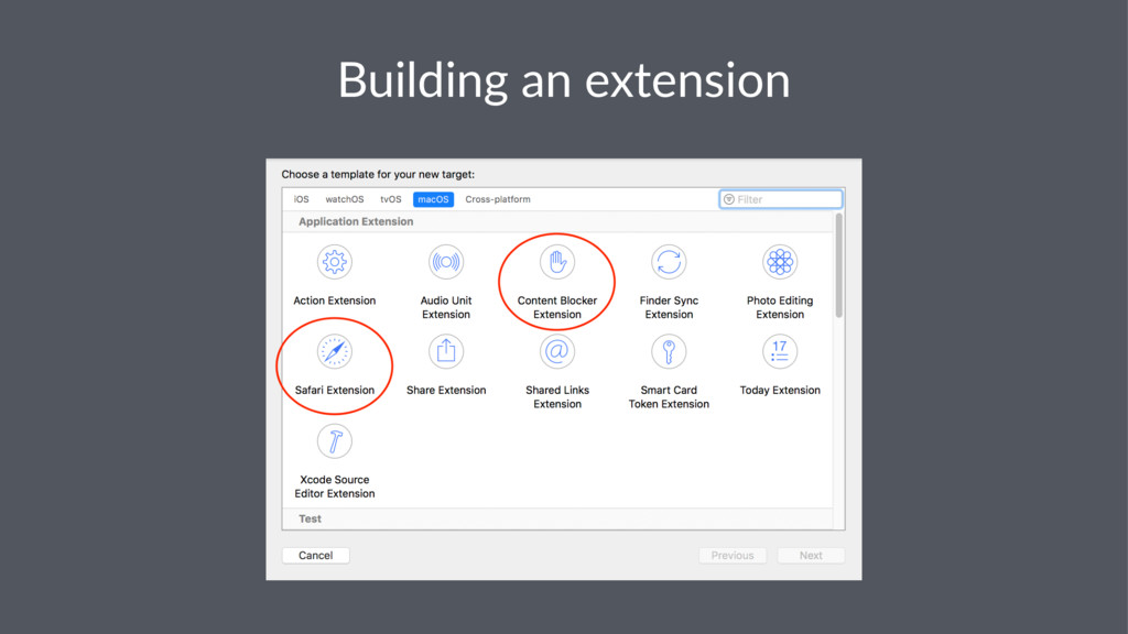 Building an extension
