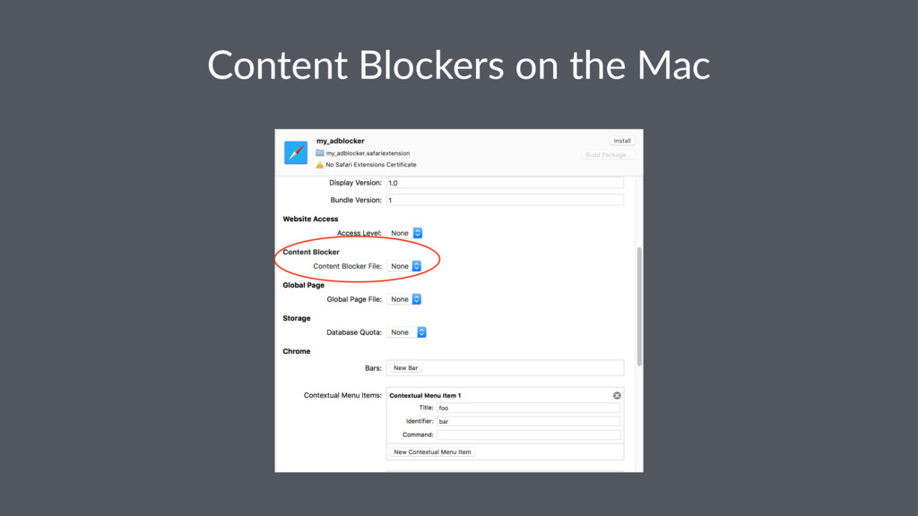 Content Blockers on the Mac