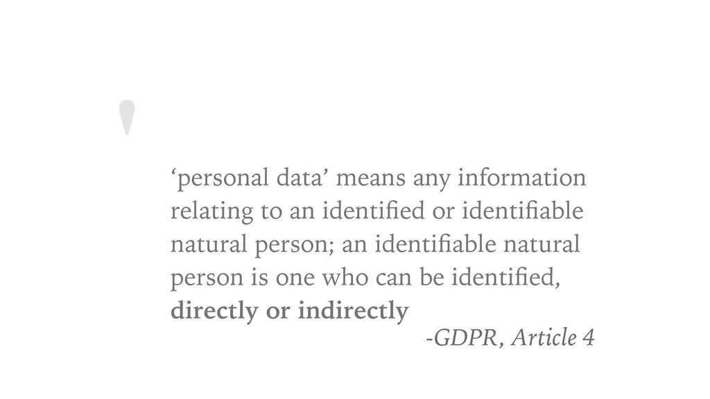 ' 'personal data' means any information relatin...