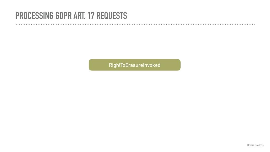 PROCESSING GDPR ART. 17 REQUESTS @michieltcs Ri...
