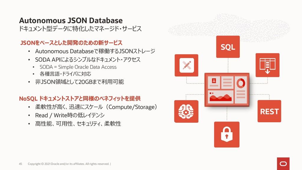 ドキュメント型データに特化したマネージド・サービス JSONをベースとした開発のための新サービ...
