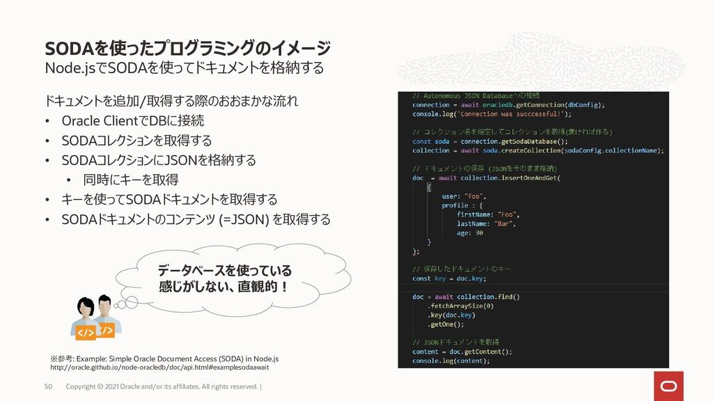 Node.jsでSODAを使ってドキュメントを格納する ドキュメントを追加/取得する際のおおま...