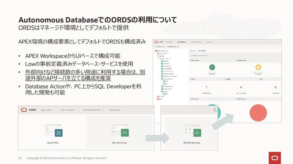 ORDSはマネージド環境としてデフォルトで提供 Autonomous DatabaseでのOR...