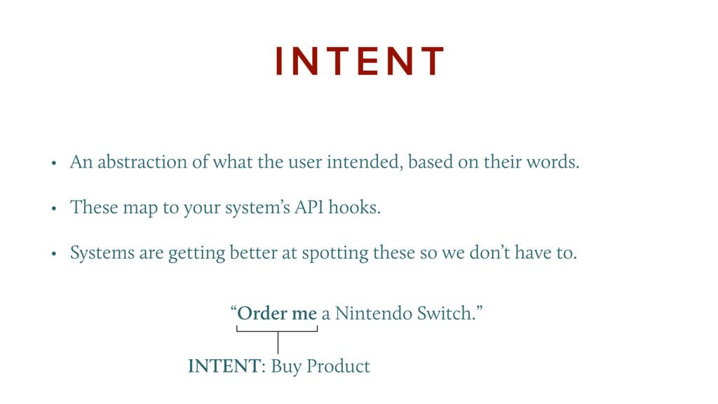"""Order me a Nintendo Switch."" INTENT • An a..."