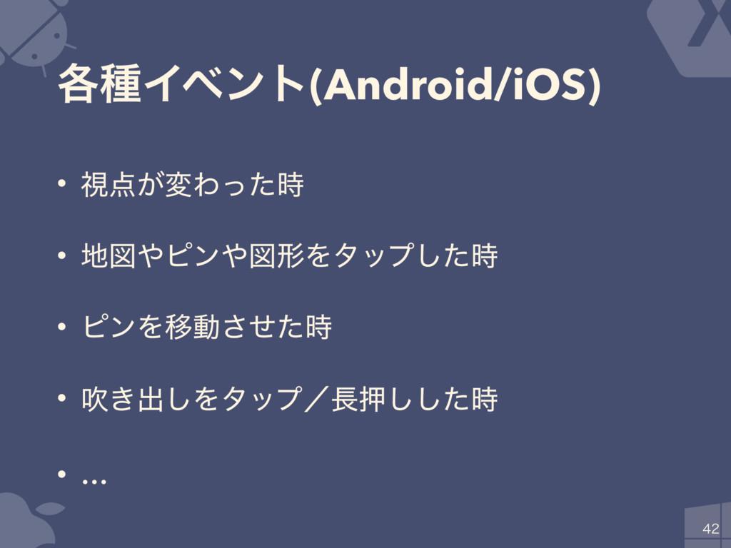 ֤छΠϕϯτ(Android/iOS) • ࢹ͕มΘͬͨ • ਤϐϯਤܗΛλοϓͨ͠...