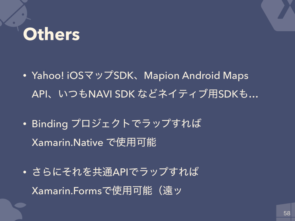 Others • Yahoo! iOSϚοϓSDKɺMapion Android Maps A...
