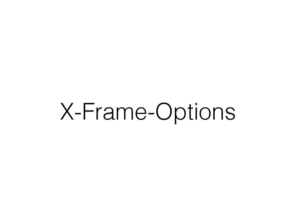 X-Frame-Options