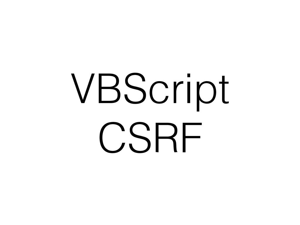 VBScript CSRF