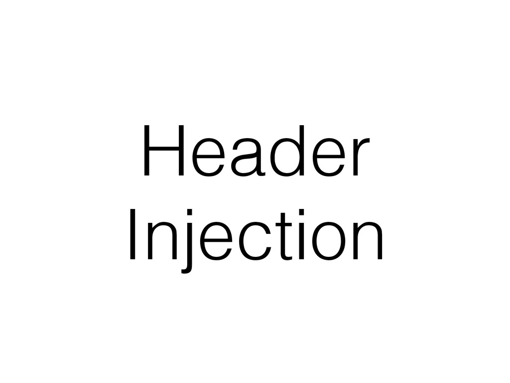 Header Injection