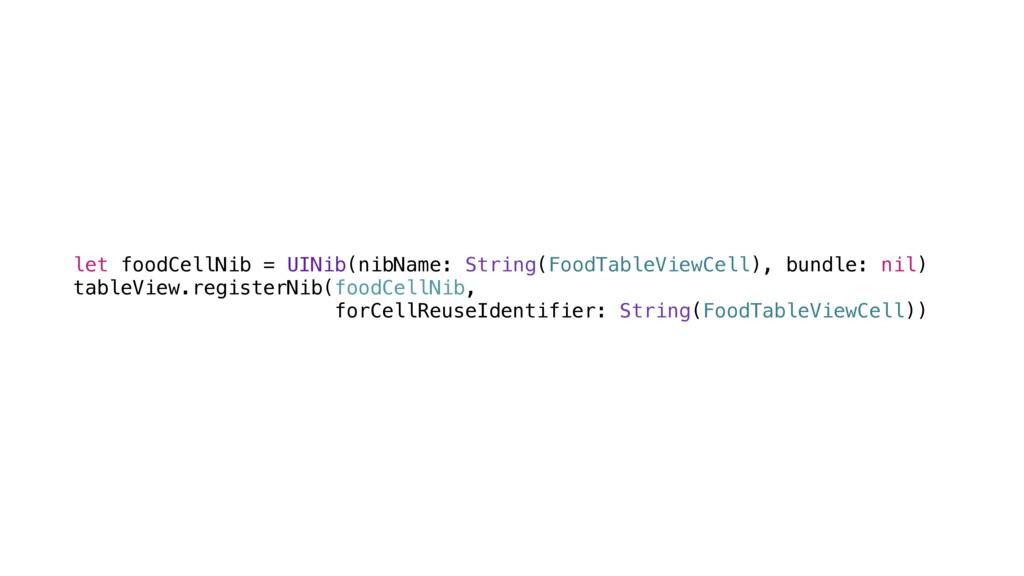 let foodCellNib = UINib(nibName: String(FoodTab...