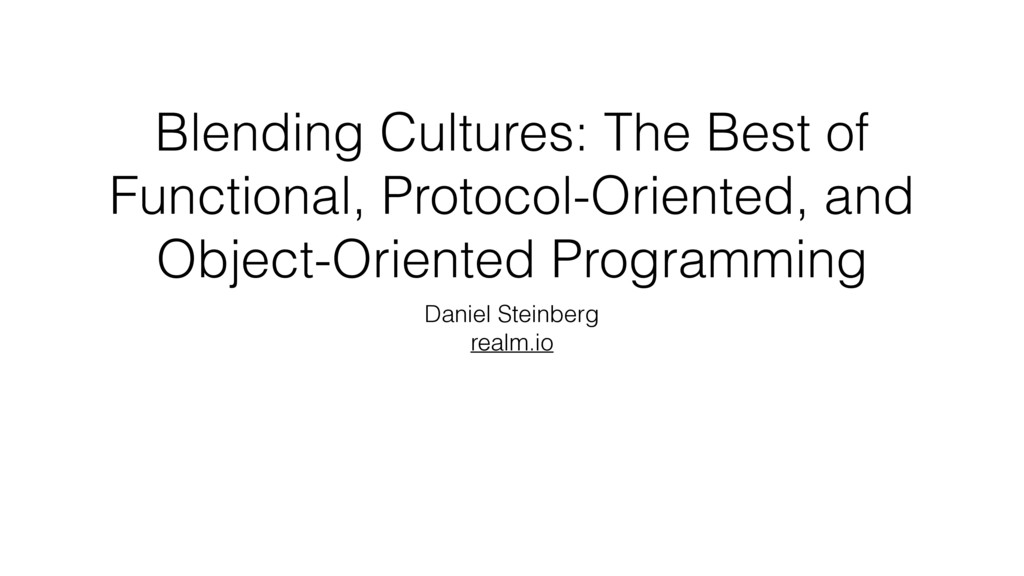 Blending Cultures: The Best of Functional, Prot...