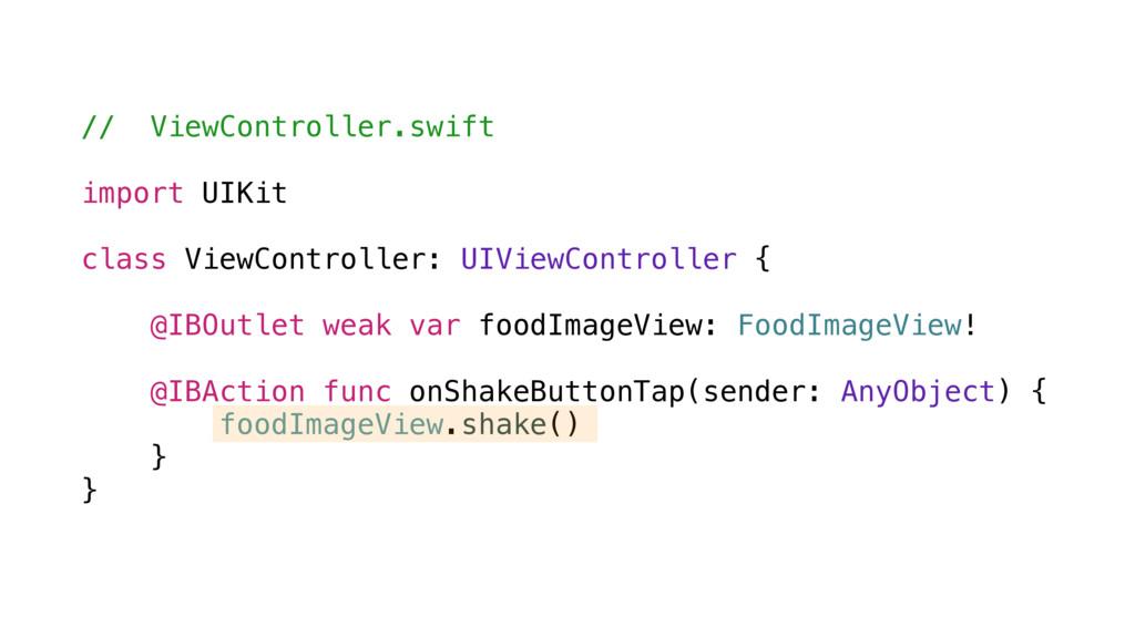 // ViewController.swift import UIKit class View...