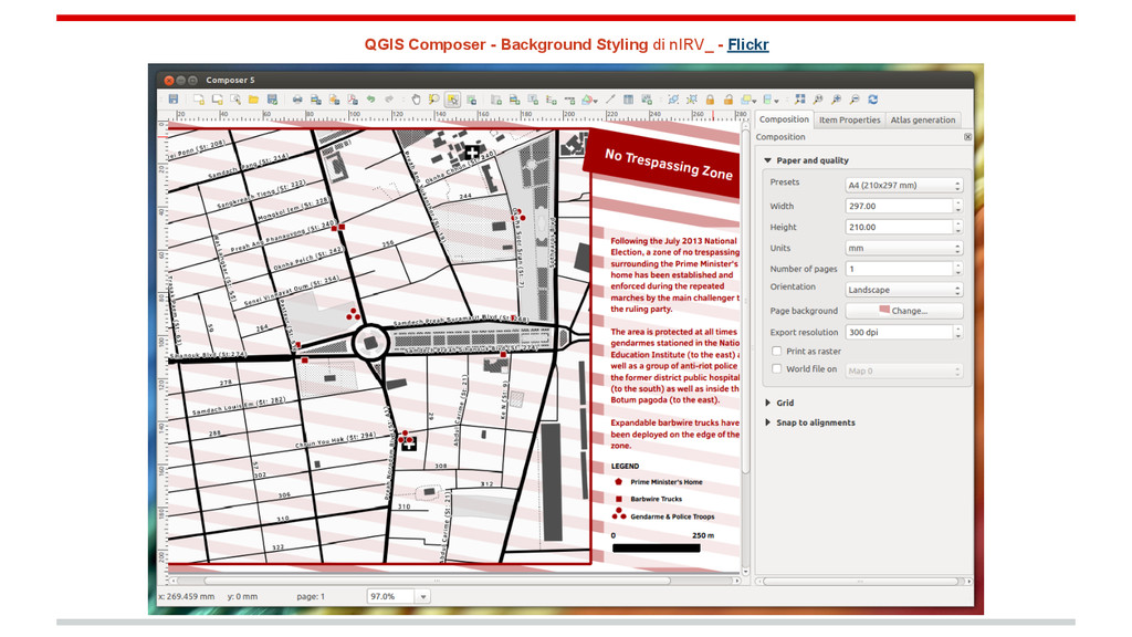 QGIS Composer - Background Styling di nIRV_ - F...
