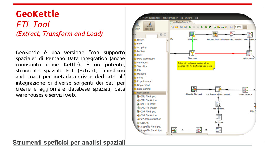 GeoKettle ETL Tool (Extract, Transform and Load...