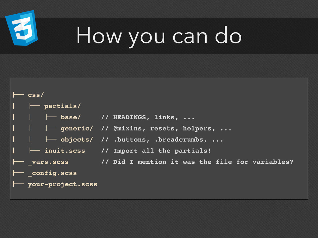 "How you can do !"""" css/ # !"""" partials/ # # !""""..."