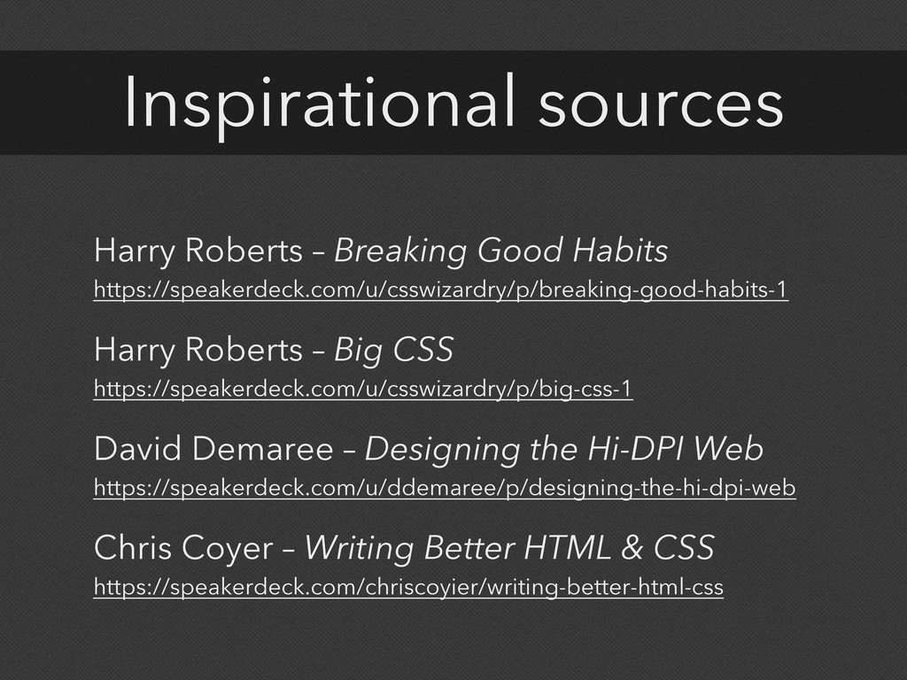 Inspirational sources Harry Roberts – Breaking ...