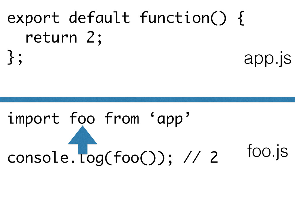 export default function() { return 2; }; import...