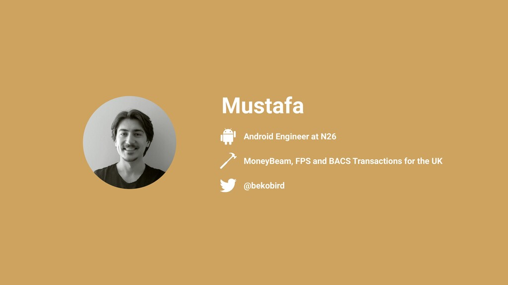 @bekobird Android Engineer at N26 Mustafa Money...