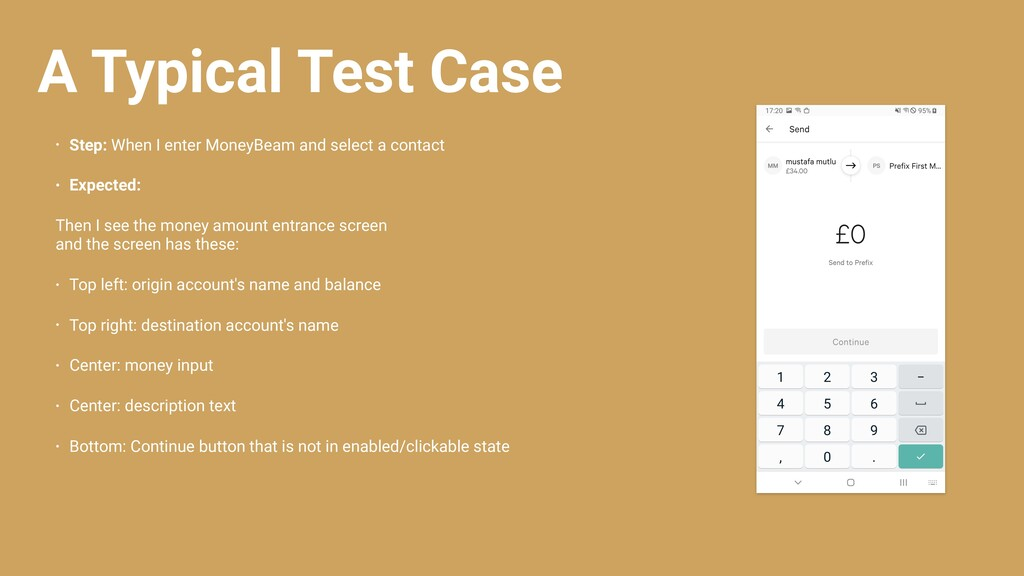 A Typical Test Case • Step: When I enter MoneyB...