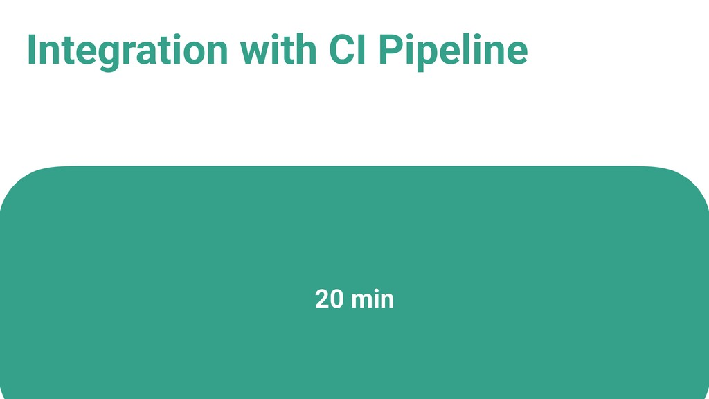 Integration with CI Pipeline 20 min