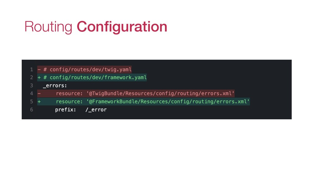 Routing Configuration _errors: resource: '@Fram...