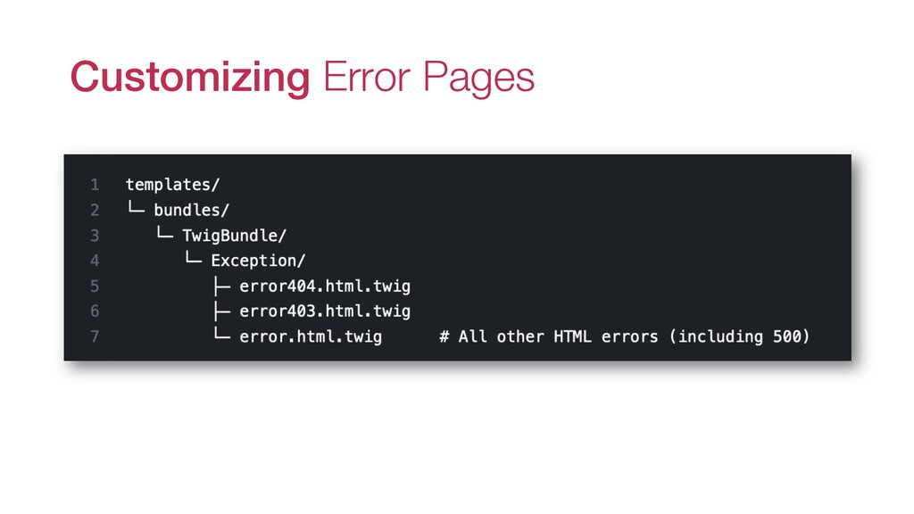 Customizing Error Pages