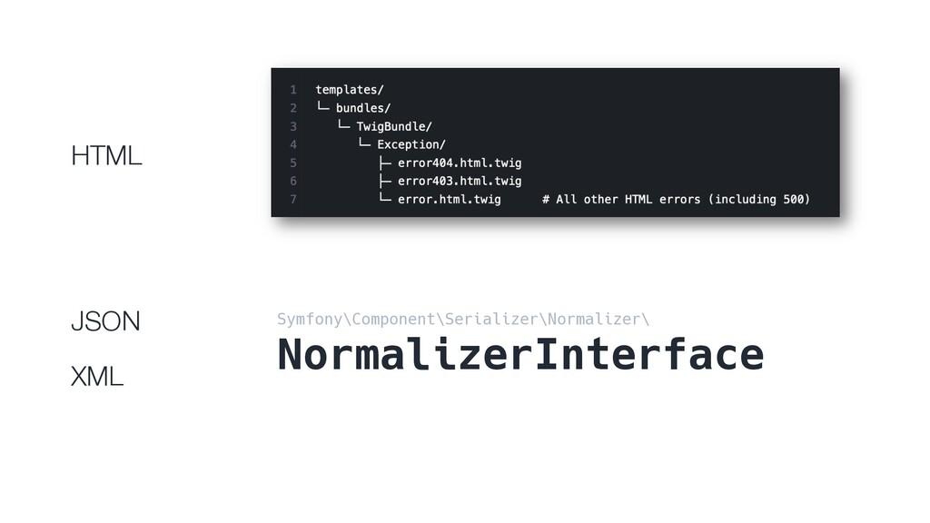HTML JSON XML Symfony\Component\Serializer\Norm...