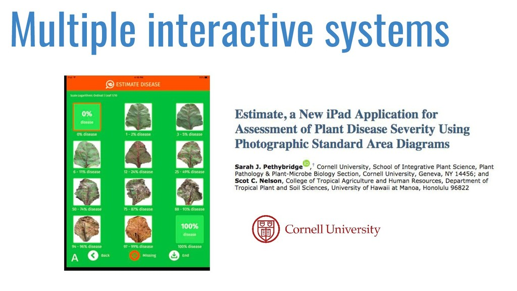 Multiple interactive systems