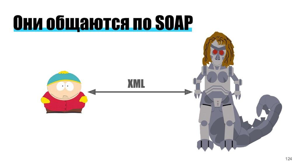 Они общаются по SOAP XML 124