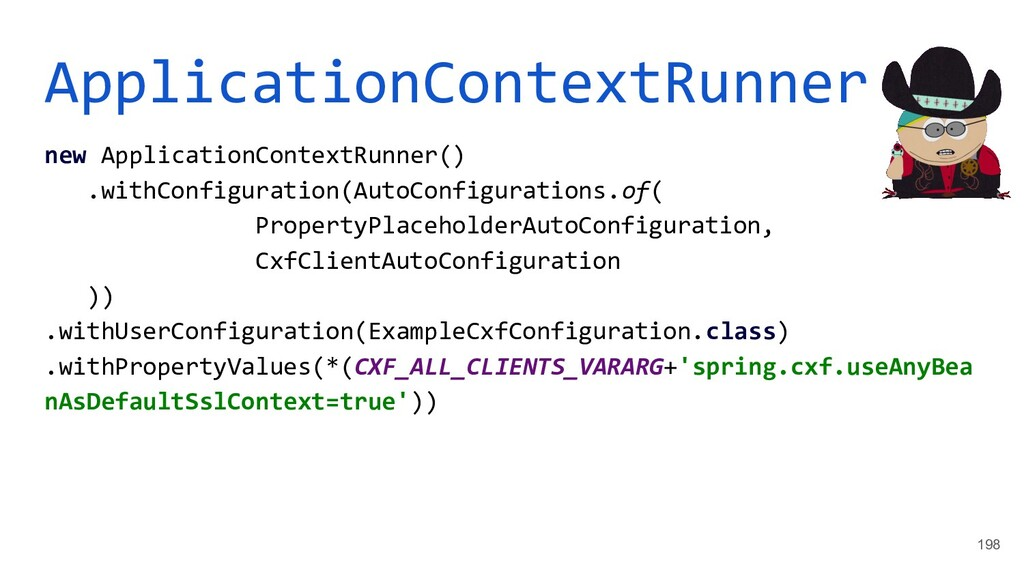 ApplicationContextRunner new ApplicationContext...