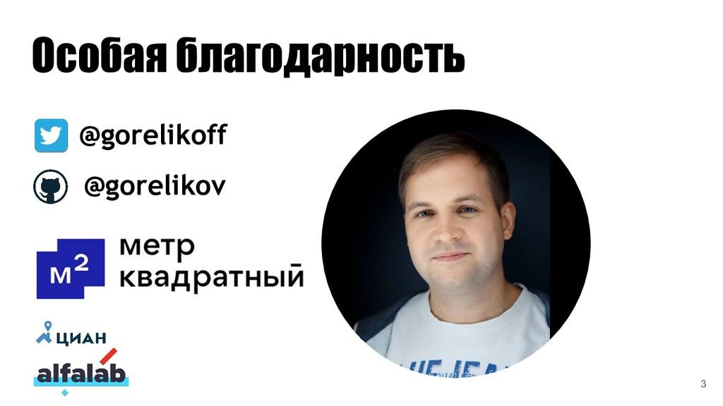 Особая благодарность @gorelikoff @gorelikov 3