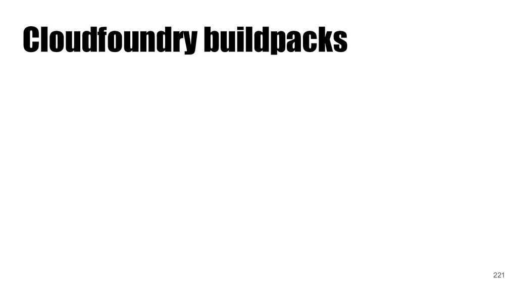 Cloudfoundry buildpacks 221