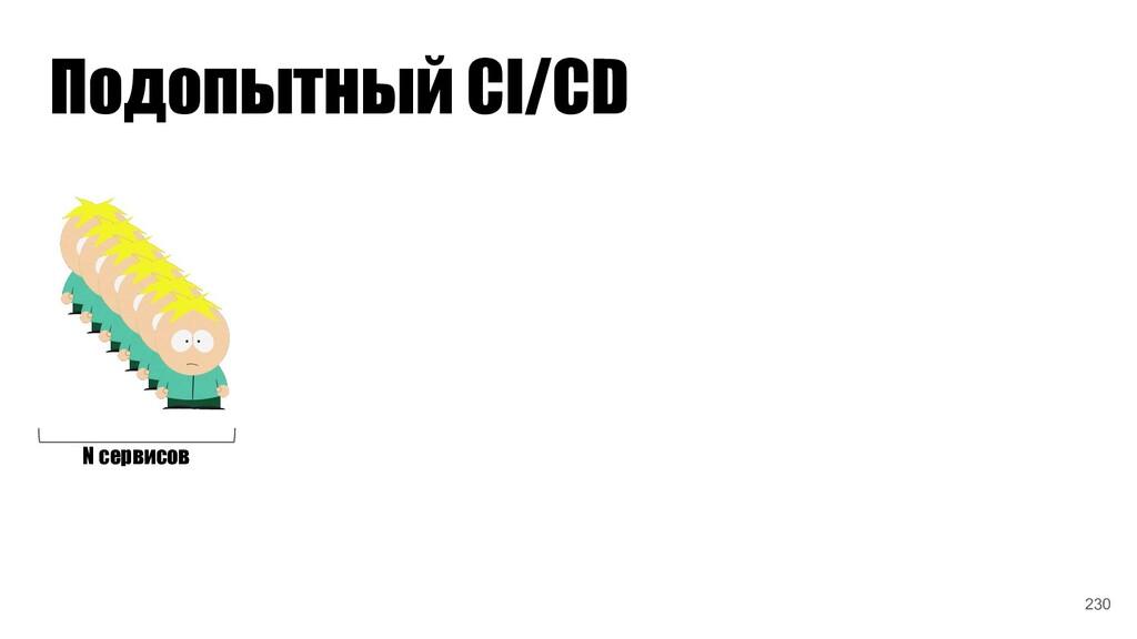 Подопытный CI/CD N сервисов 230