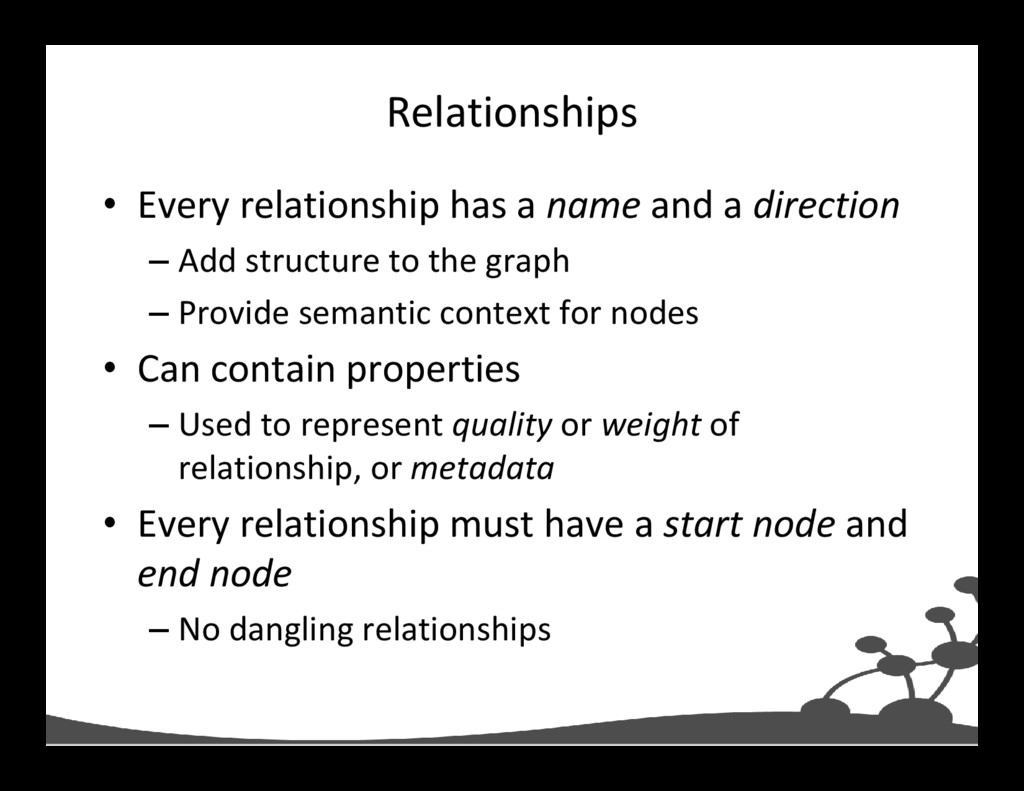Relationships • Every relationship has a name a...