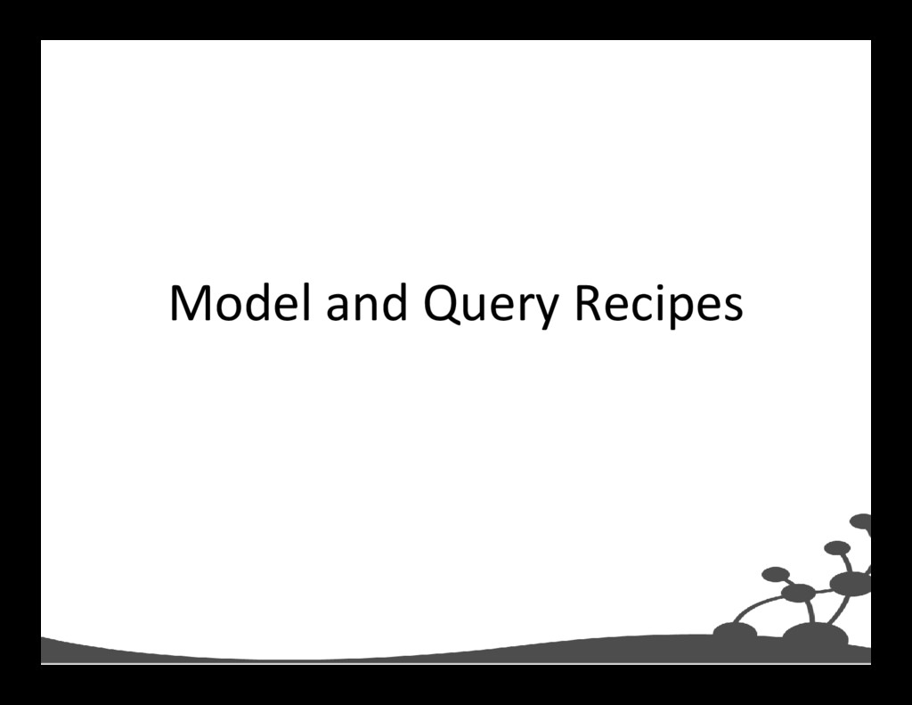 Model and Query Recipes