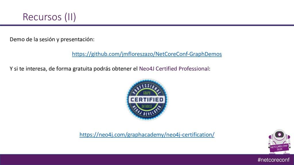 #netcoreconf Recursos (II) Demo de la sesión y ...