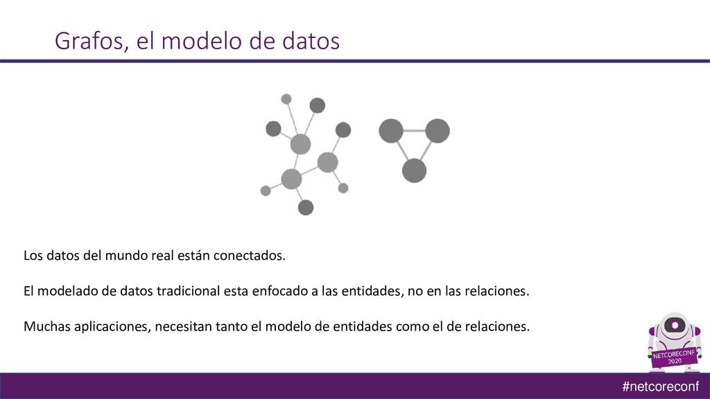 #netcoreconf Grafos, el modelo de datos Los dat...