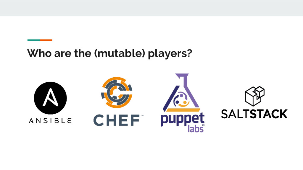 Who are the (mutable) players?