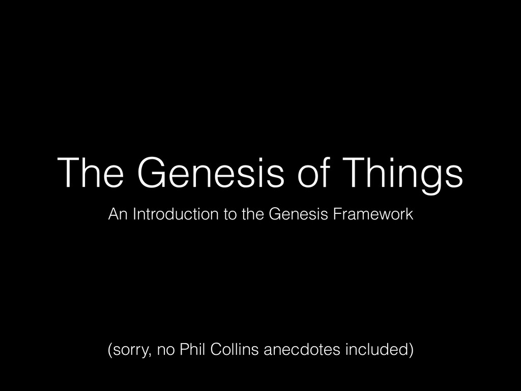 The Genesis of Things An Introduction to the Ge...