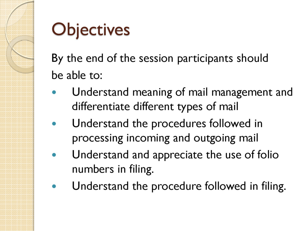 Objectives By the end of the session participan...