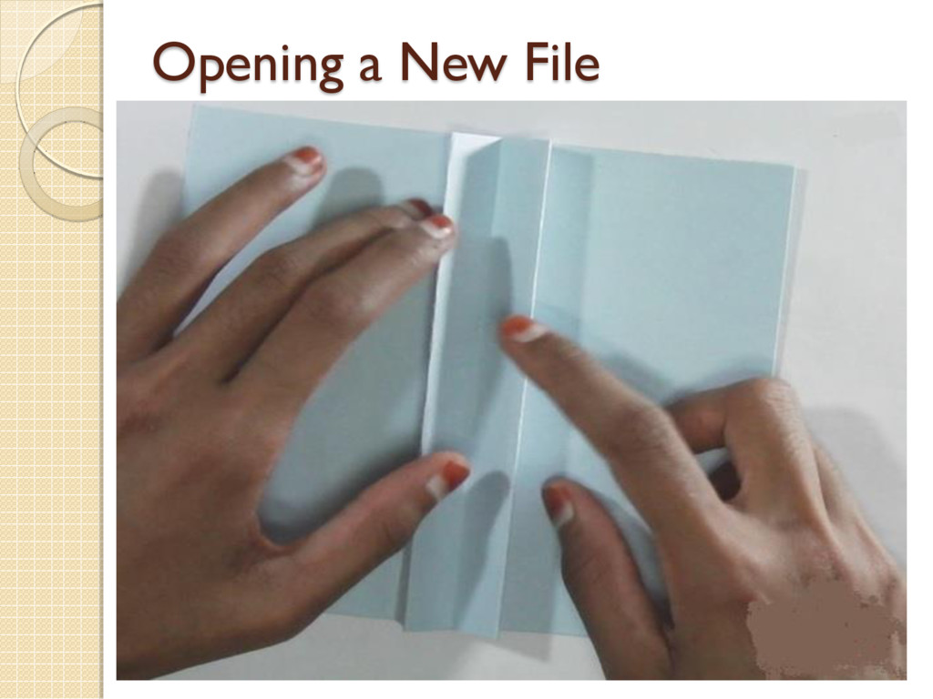 Opening a New File