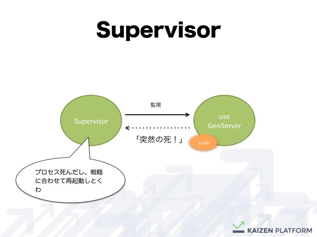 4VQFSWJTPS Supervisor use  GenServer  ...