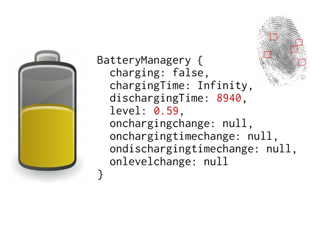 BatteryManagery { charging: false, chargingTime...