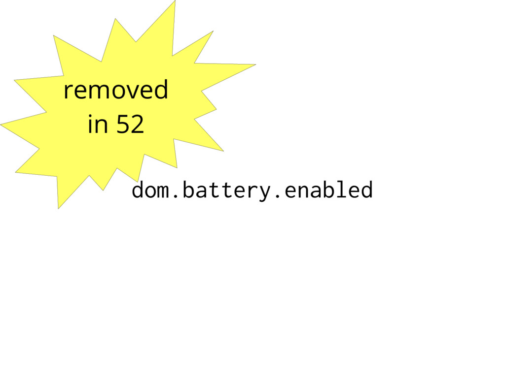 removed in 52 dom.battery.enabled